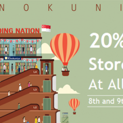 Kinokuniya: Enjoy 20% off storewide at all Stores and Online