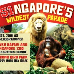 Wildlife Parks: 51% OFF Singapore Zoo & River Safari Combo Tickets for Local Residents