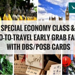 Cathay Pacific: Special Economy Class & Two-to-Travel Early Grab Fares with DBS/POSB Cards to Hong Kong, Bangkok, Japan, Korea & more!