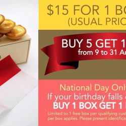Tarta Cheese Tarts: Opening Promotions - $3 OFF 1 Box, Buy 5 Get 1 FREE or Buy 1 Box Get 1 Box FREE