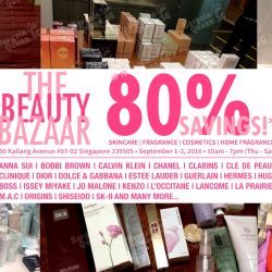 The Beauty Bazaar: Warehouse Sale Up to 80% OFF Fragrances, Cosmetics & Skincare