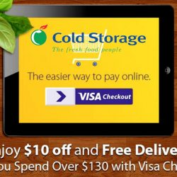 Cold Storage: Spend $130 and Enjoy $10 OFF with Visa Checkout