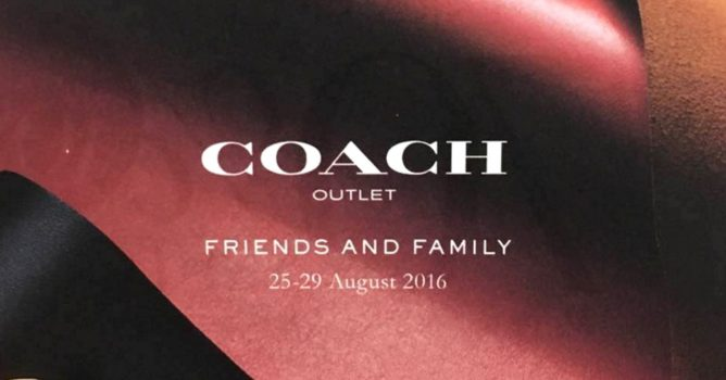 coach coach outlet 24le  Splurge on a new luxury bag from Coach at Coach Outlet Friends and Family  Sale happening from 25 to 29 August 2016 at IMM! Get up to 70% off selected  Coach