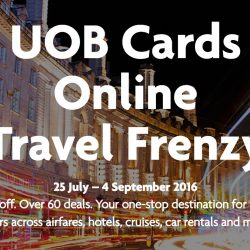 UOB Cards: UOB Online Travel Frenzy Up to 75% OFF Over 60 Travel Deals