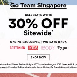 Cotton On: Online Exclusive Sale 30% OFF Full Price Items Sitewide