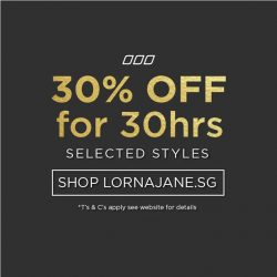 Lorna Jane: Flash Offer - 30% off selected styles for 30 hours