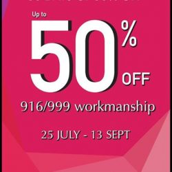 Tianpo Jewellery: Up to 50% OFF 916/999 Workmanship for Members
