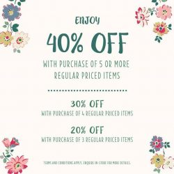 Cath Kidston: Enjoy up to 40% OFF regular-priced items