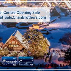 Citibank: Get 50% off second traveller at Chan Brothers Japan Travel Centre Opening Sale