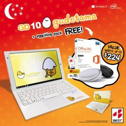Best Denki: Purchase Limited Edition Gudetama Tablet & Receive FREE Gifts worth up to $224