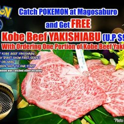 Magosaburo: FREE Kobe Beef Yakishabu with Pokemon Caught in ION