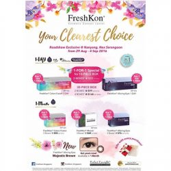 Nanyang Optical: FreshKon 1-FOR-1 special, and 2boxes at $22 only at NEX Roadshow