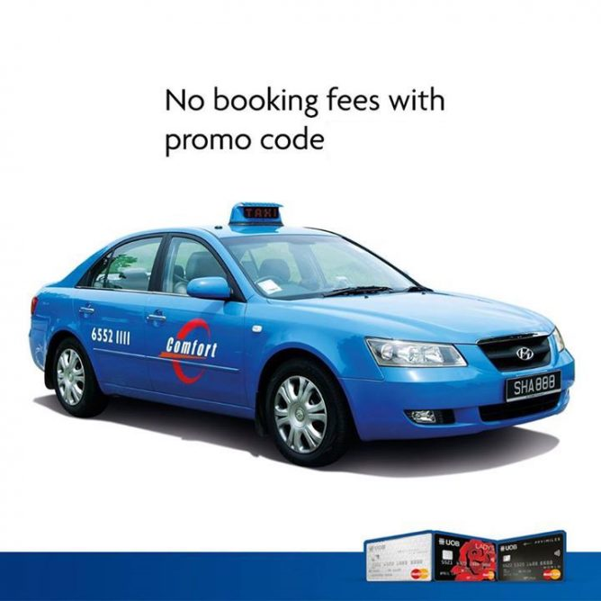 UOB: No admin or booking fees on ComfortDelGro App when you pay with your UOB MasterCard via MasterPass