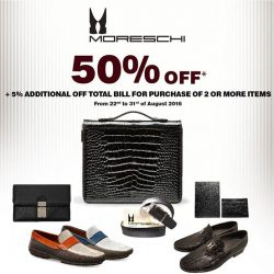 Uomo Collezioni: End of Season Sale 50% OFF at Moreschi