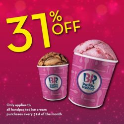 Baskin Robbins: 31% off handpacked ice cream deal