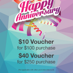 Cityluxe: Get $10 Voucher for purchase above $100 or $40 Voucher for purchase above $250