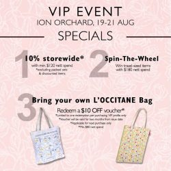 L'Occitane: Enjoy exclusive promotions at L'OCCITANE VIP Event @ION Orchard