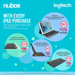 Nübox: Up to 28% OFF Selected Products with Purchase of iPad