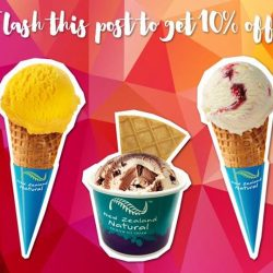 New Zealand Natural Café: 10% off all single scoop ice cream