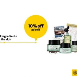 Maybank: Receive a complimentary 5ml belif Peat miracle revital + 10% OFF All Regular-priced Items