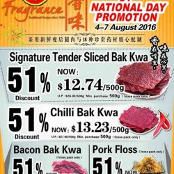 Fragrance Bak Kwa: 51% OFF Signature Tender Sliced Bak Kwa, Chilli Bak Kwa, Bacon Bak Kwa & Pork Floss
