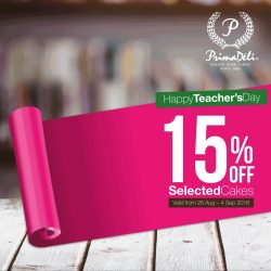 PrimaDeli: 15% OFF Any Cake from All Time Favourites Collection