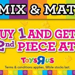 Babies'R'Us: Lego Mix and Match Offer - Buy 1 and get the 2nd piece at 50% Off Online