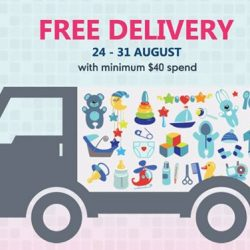 Mothercare: Enjoy free delivery when you order online between 24 - 31 August!