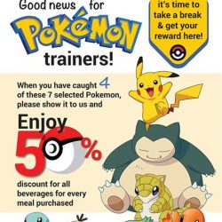 Face to Face Noodle House: Show 4 of selected Pokemon to enjoy 50% OFF All Beverages