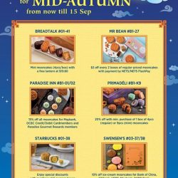 City Square Mall: Mid-Autumn Sweet Deals Up to 20% OFF Mooncakes
