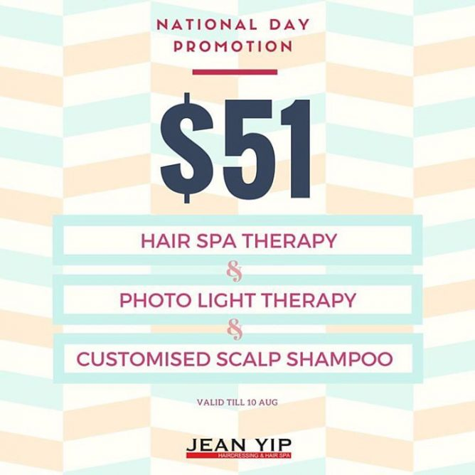 National Day Is Just Around The Corner And We Have Many Good Deals To Share For Only 51 Youll Get 1 Session Of 6 Elements Botanicals Hair Spa Therapy