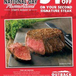 Outback Steakhouse: Enjoy 51% off 2nd Signature Steak