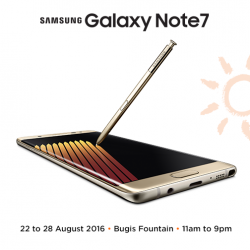 M1: Exclusive Deals at Bugis Roadshow + FREE $20 Google Play Gift Card with Purchase of Samsung Galaxy Note 7