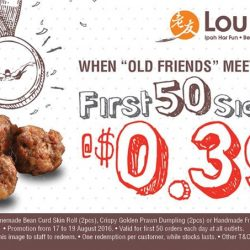 Ipoh Lou Yau Bean Sprouts Chicken: First 50 customers daily can enjoy Sides* at only $0.39