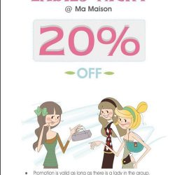 Ma Maison Restaurant: Monday Ladies Night promotion 20% OFF Dinner