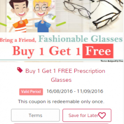 Hirocon: Buy 1 get 1 free Prescription glasses