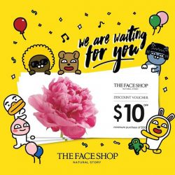 The Face Shop: Redeem $10 Discount Voucher at any THEFACESHOP or Nature Collection store