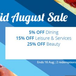 Groupon: Coupon Code for up to 25% OFF Dining, Leisure & Services and Beauty Deals