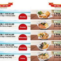 The Manhattan FISH MARKET: 1-for-1 Weekday Promotion at Marina Square