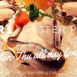 The Sushi Bar Dining: 1-for-1 Oyster Ponzu from Monday to Thursday