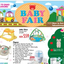Takashimaya: Baby Fair with Offers on Philips Avent, Pigeon, Chicco, Little Tikes & More