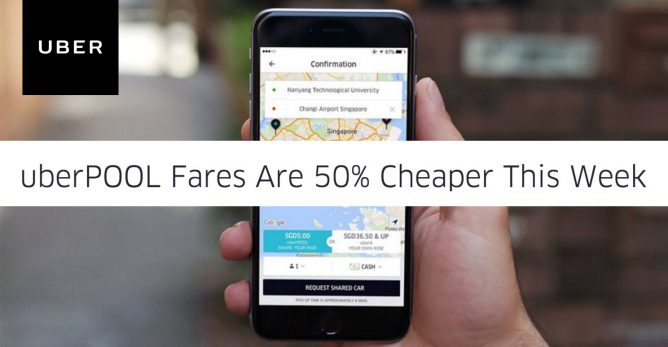 Uber: Coupon Code for 50% OFF on all your uberPOOL rides