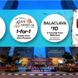 Suntec City: Free Scoop of Banana Ice-Cream from Gelare, Free $10 Marche e-Voucher, 1-for-1 Alive Museum Tickets & Free $10 Balaclava e-Voucher