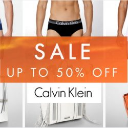 Calvin Klein: Online Sale Up to 50% OFF Apparel, Underwear & Accessories + Additional 15% OFF for Citibank Cardmembers