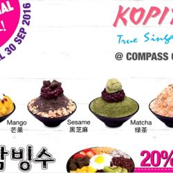 Compass One: Kopitiam Opens Tomorrow + Enjoy 20% off Korean Bingsu