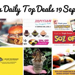 BQ's Daily Top Deals: 1-for-1 Coffee at Gelare, 50% OFF at Standing Sushi Bar, OverEasy $11 OFF Burger, 20% OFF Korean Bingsu at Compass One, FlyScoot Take Off Tuesday, 1-for-1 Ice Blended Drink at The Coffee Bean & Tea Leaf, Hush Puppies End of Season Sale, 50% OFF Single Scoop at Swensen's, 1-for-1 at HoneyCreme & Takashimaya Baby Fair