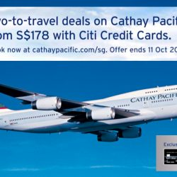 Cathay Pacific: Two-to-Travel Airfares from $178 with Citi Credit Cards