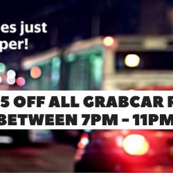 Grab: Coupon Code for $5 OFF All GrabCar Rides Between 7pm to 11pm