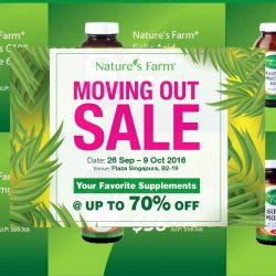 Nature's Farm: Plaza Singapura Moving Out Sale Up to 70% OFF Supplements