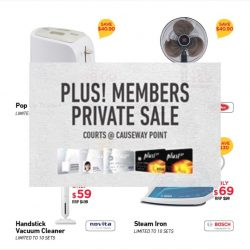 Courts Causeway Point: Closed Door Private Sale Event Up to 85% OFF Retail Price for NTUC Members